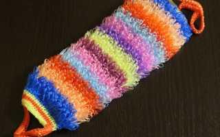 Вязание мочалок крючком: простые схемы и описание