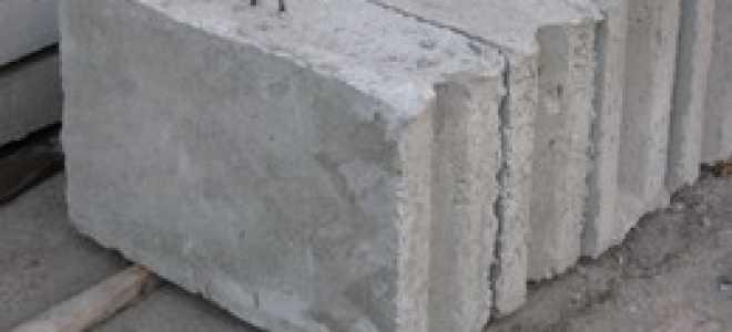 Фундамент из ФСБ различного размера