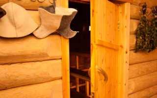 Как сделать дверь в баню: пошаговая инструкция