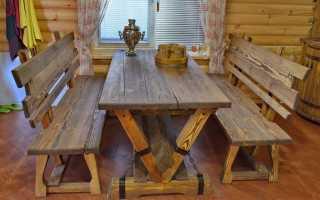Стол для бани своими руками из дерева: как сделать