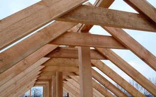 Стропильная система двухскатной крыши своими руками: простейшая схема для самоделкина