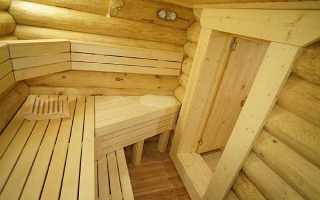 Оптимальные размеры парилки и полок в бане